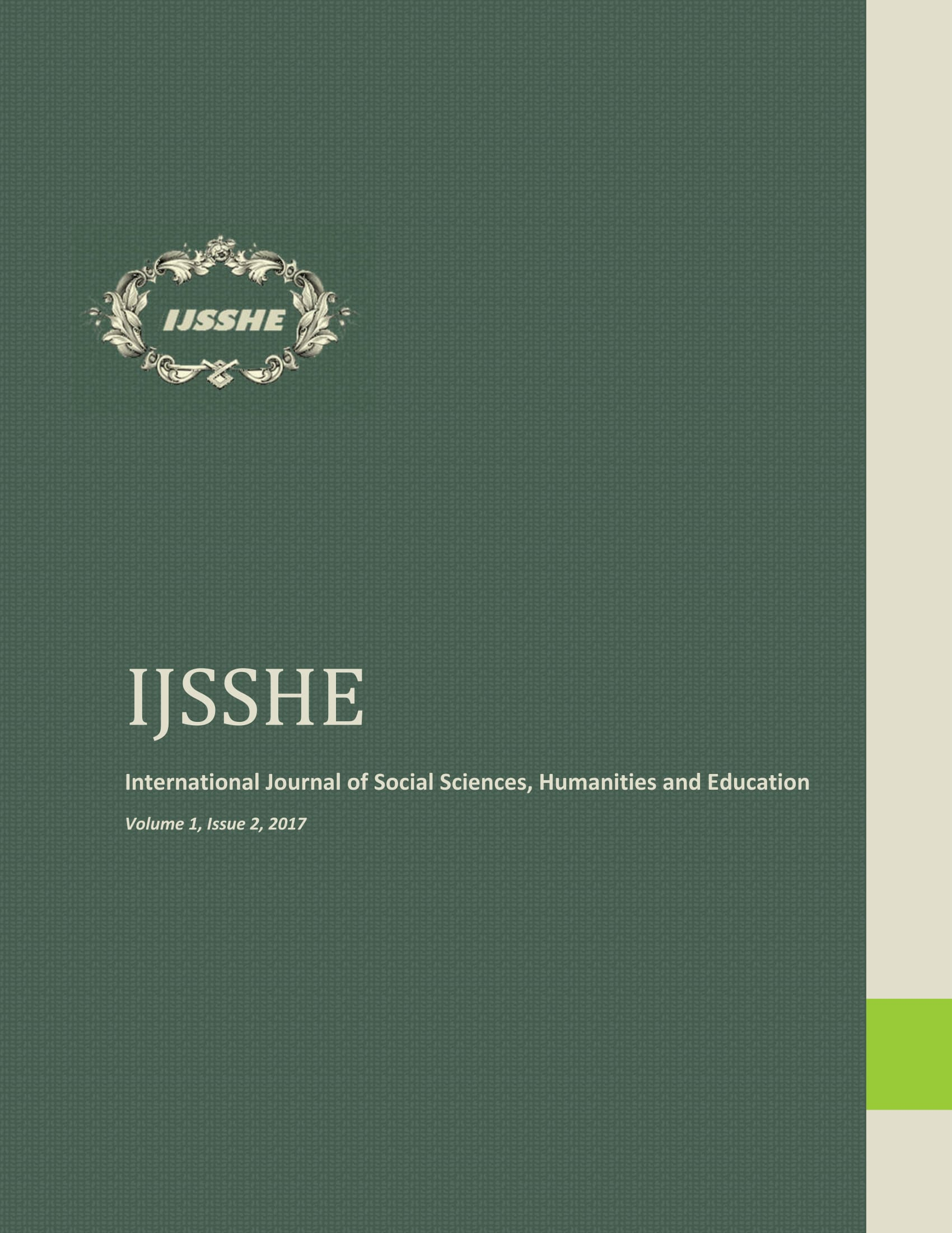 IJSSHE Vol 1, Issue 2, 2017