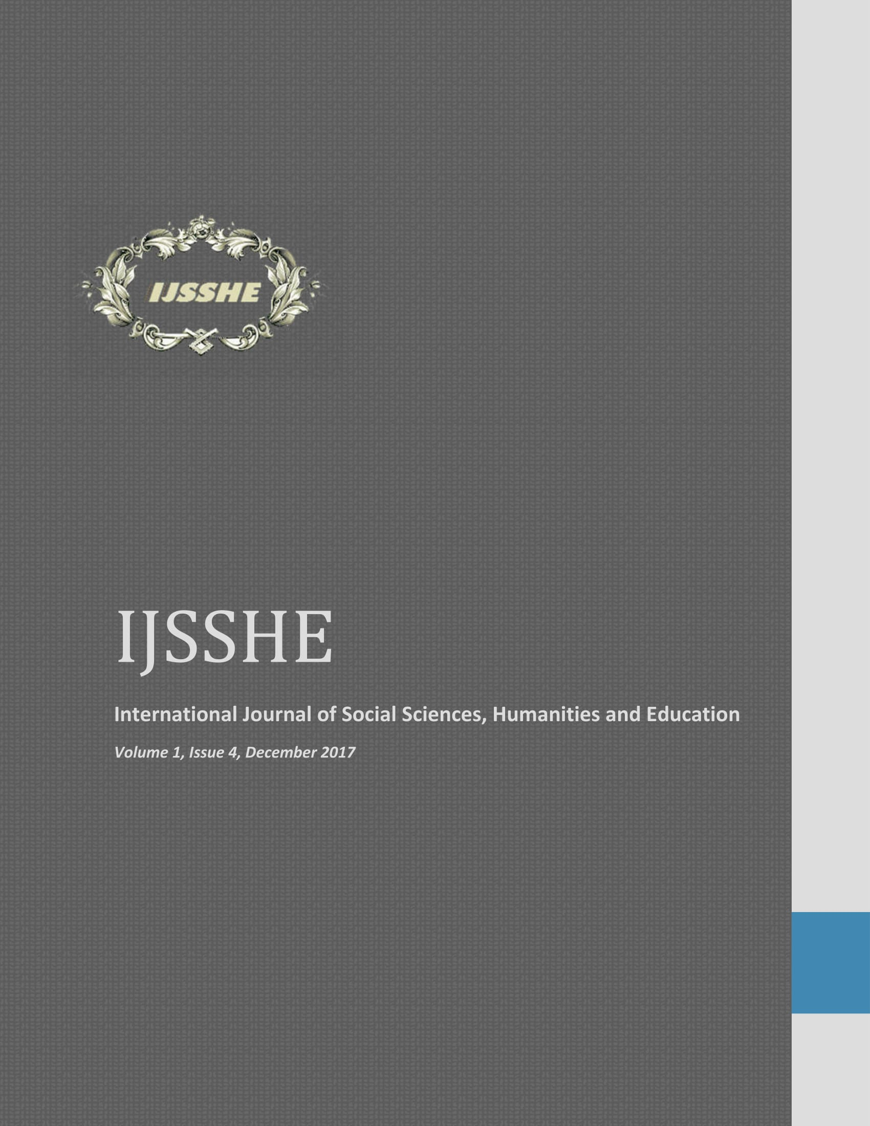 IJSSHE Vol 1, Issue 4, 2017